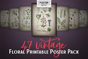 47 Vintage Floral Botanical Posters
