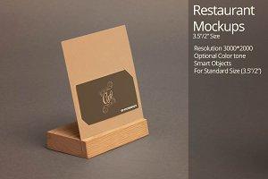 Restaurant Mockup 5 (Business card)