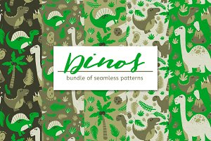 DINOS – Seamless Pattern Bundle