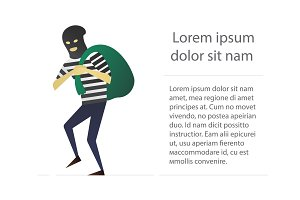 Robber flat character design