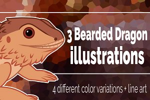 Bearded Dragon clip art