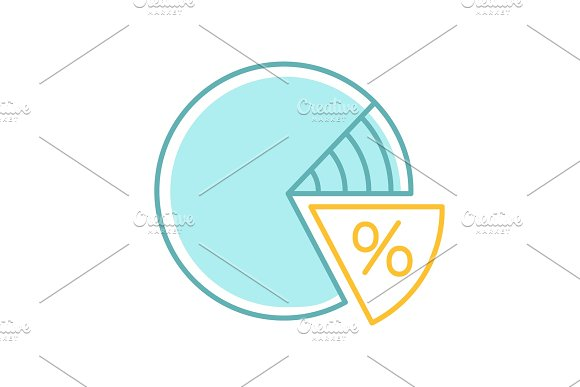 Percentage Pie Chart Color Icon Icons Creative Market