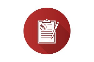 Loan agreement icon