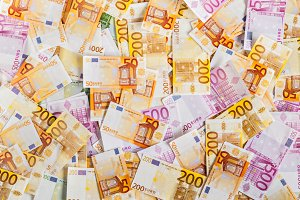solid background of euro money