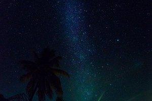 Milky way in tropics.