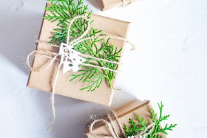 Christmas concept with gift boxes