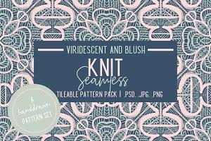 Viridescent and Blush Knit Patterns