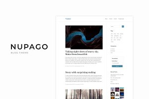 Nupago - Clean Wordpress Blog Theme