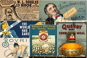 Vintage Advertising Ephemera Clipart