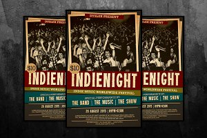 Indie Night Concert Flyer