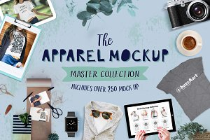 300+ Apparel Mockups Big Bundle