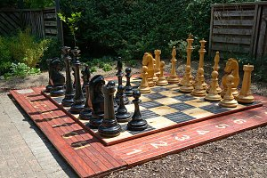 Most chess board in the park