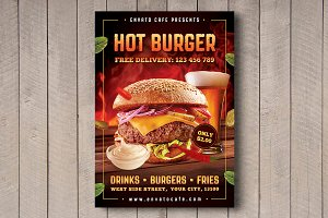 Hot Burger Flyer