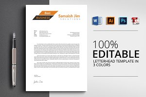 Clean Letterhead Word Template