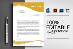 Business Letterhead Word Template