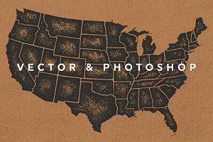 United States Map - AI & PSD