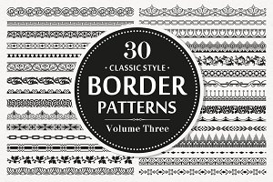 30 Vector Border Seamless Patterns
