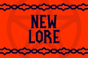 New Lore - A Gothic Serif Font
