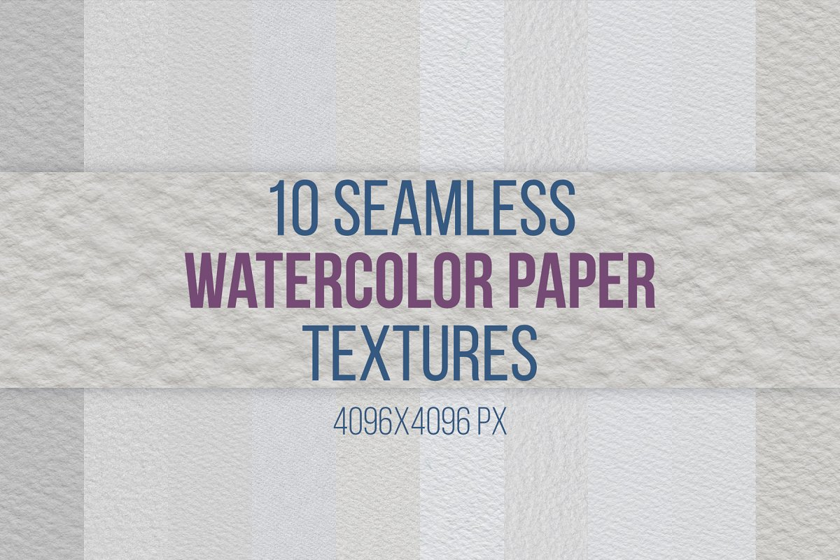 10 Seamless Watercolor Paper Texture ~ Graphic Patterns