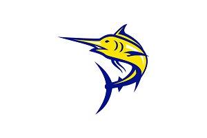 Blue Marlin Jumping Mascot