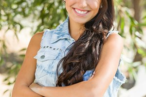 Attractive Smiling Mixed Race Girl P