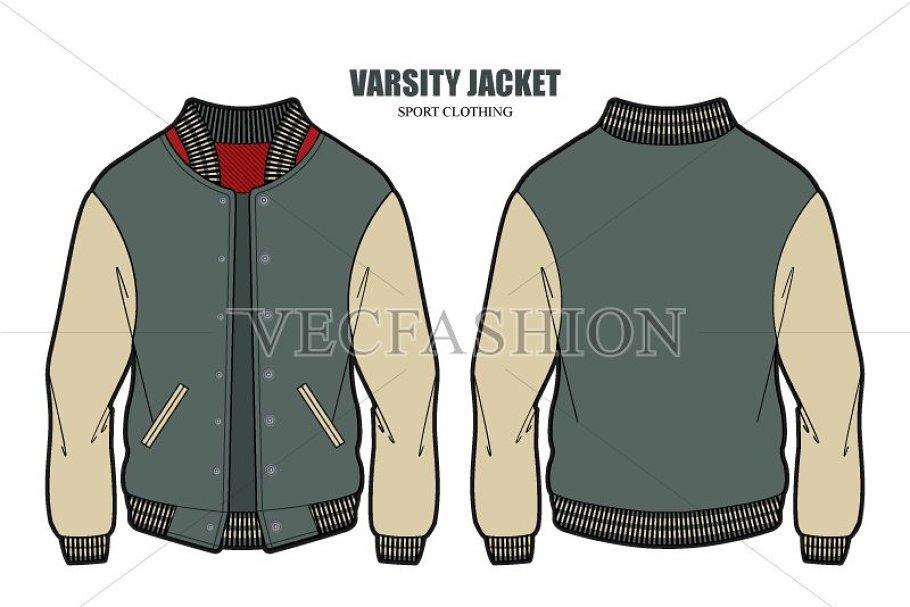 97+ Desain Jaket Varsity Vector HD Terbaru