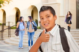 Young Male Hispanic Student Boy with