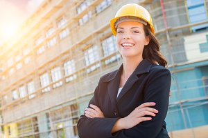 Portrait of Female Contractor Wearin