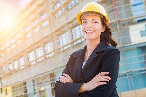 Portrait of Female Contractor Wearin