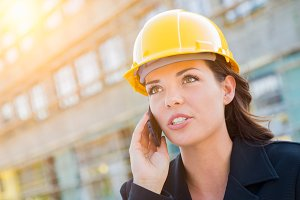 Young Professional Female Contractor