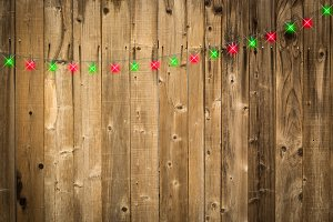 Lustrous Wooden Background with Gree