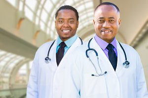 Two African American Male Doctors In