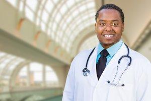 African American Male Doctor Inside