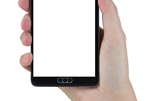 Female Hand Holding Smart Phone with
