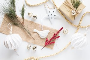 Holiday Scandi Style Christmas Photo