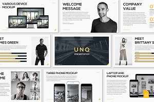 UNQ - Google Slides Template