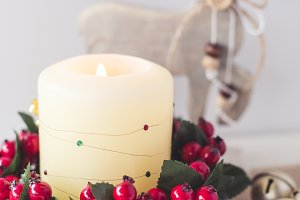 Holiday Stock Photo Christmas Candle