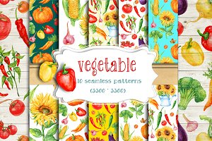 vegetable.seamless patterns