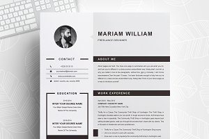 Modern & Clean Resume / CV Template