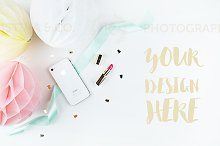 Mockup party. Styled photography