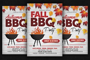 Fall Autumn BBQ Flyer