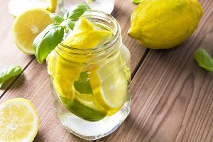 homemade refreshing summer lemonade