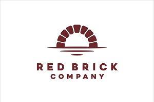 Canal/Waterway Brick Bridge Logo