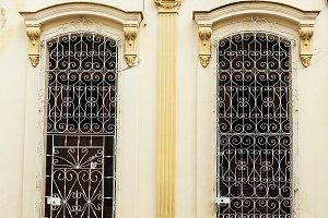 Typical Cuban palace window with iro