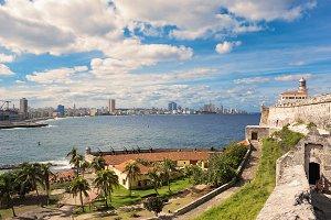 Panorama of Havana with lighthouse