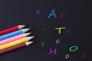 concept of back to school with color