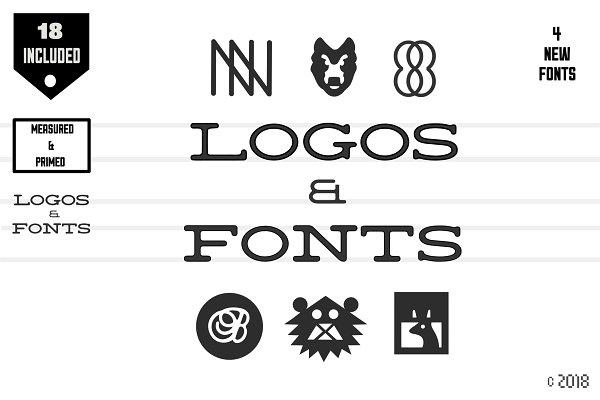 Fonts: Noah Kinard - Old Style Logos & Fonts + Bonus