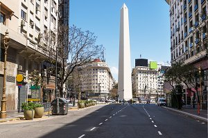 Obelisk from Avenida Roque Saenz Pen