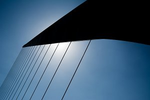 Details of cords del puente de la mu