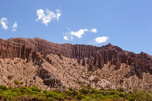 Badlands of mountain in Jujuy's prov